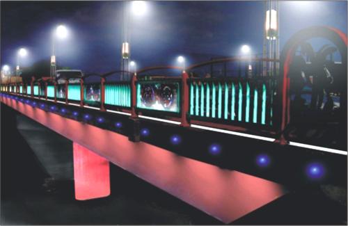 埔里鎮愛蘭橋至暨南大學沿線燈光設計
